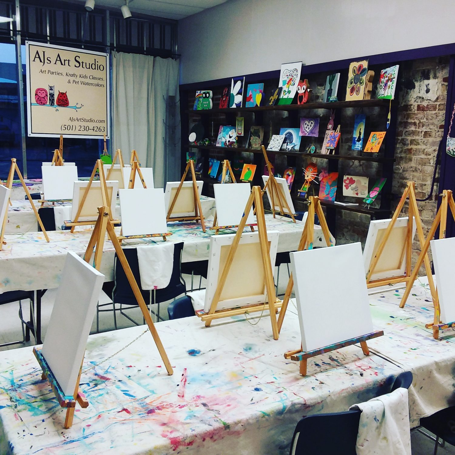 learn how to paint at AJs Art Studio